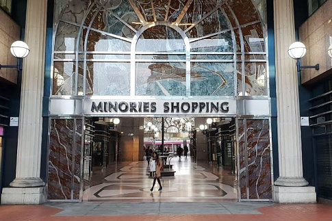 The Minories Shopping Entrance